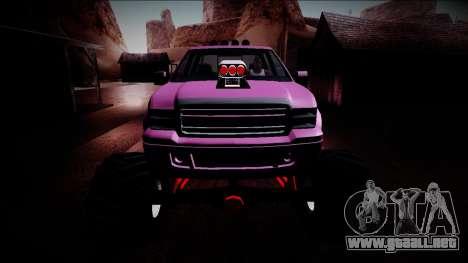 GTA 5 Vapid Sadler Monster Truck para la vista superior GTA San Andreas