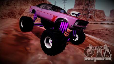 GTA 5 Declasse Tampa Monster Truck para vista lateral GTA San Andreas