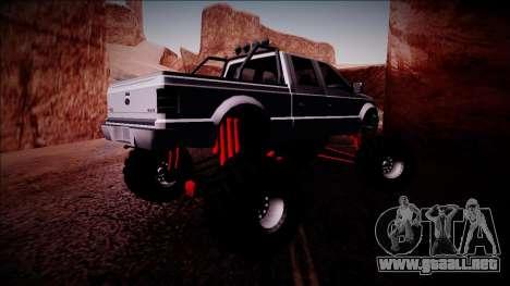 GTA 5 Vapid Sadler Monster Truck para la visión correcta GTA San Andreas