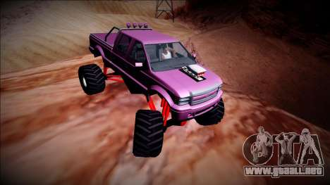 GTA 5 Vapid Sadler Monster Truck para visión interna GTA San Andreas