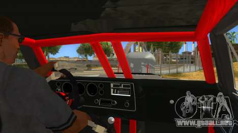1970 Chevrolet El Camino SS Drag para visión interna GTA San Andreas
