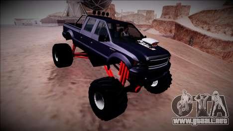 GTA 5 Vapid Sadler Monster Truck para vista lateral GTA San Andreas