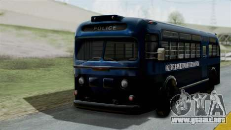 Parry Bus Police Bus 1949 - 1953 Mafia 2 para GTA San Andreas