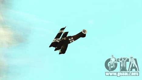 Fokker Dr1 triplane para la visión correcta GTA San Andreas