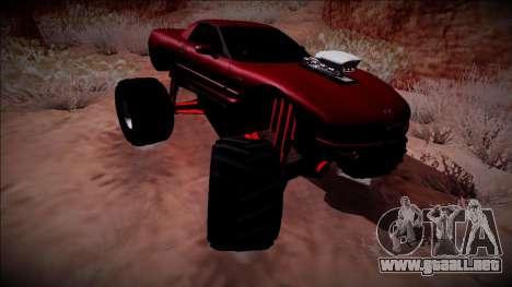 Chevrolet Corvette C5 Monster Truck para visión interna GTA San Andreas