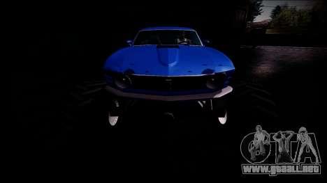 1970 Ford Mustang Boss Monster Truck para GTA San Andreas