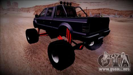 GTA 5 Vapid Sadler Monster Truck para GTA San Andreas vista posterior izquierda