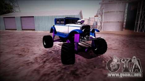 GTA 5 Albany Roosevelt Monster Truck para visión interna GTA San Andreas