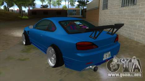 Nissan Silvia S15 326 Power para GTA San Andreas vista posterior izquierda