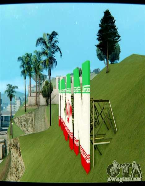 IRÁN es la inscripción Vinewood para GTA San Andreas segunda pantalla