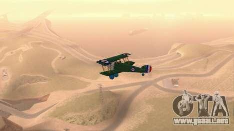 Sopwith Camel para la visión correcta GTA San Andreas