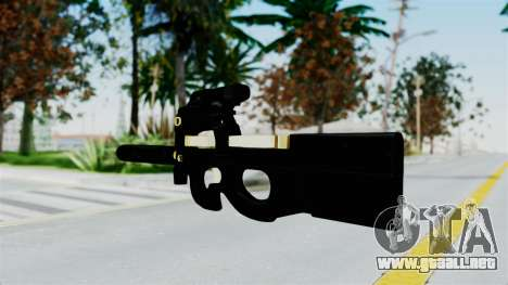 P90 Gold Silenced para GTA San Andreas segunda pantalla