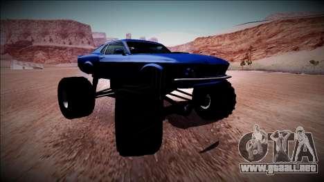 1970 Ford Mustang Boss Monster Truck para GTA San Andreas interior