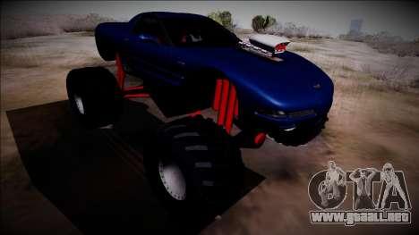 Chevrolet Corvette C5 Monster Truck para GTA San Andreas vista hacia atrás