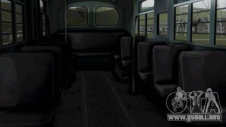 Parry Bus Police Bus 1949 - 1953 Mafia 2 para la visión correcta GTA San Andreas