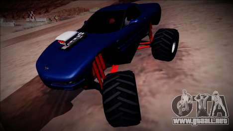 Chevrolet Corvette C5 Monster Truck para la visión correcta GTA San Andreas