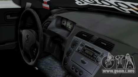 Honda Civic Vtec Special para la visión correcta GTA San Andreas