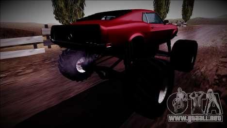 1970 Ford Mustang Boss Monster Truck para GTA San Andreas left