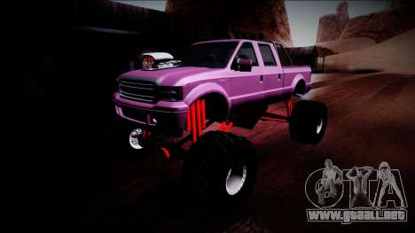 GTA 5 Vapid Sadler Monster Truck para vista inferior GTA San Andreas