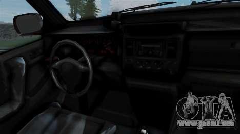 GTA 5 Albany Cavalcade v1 para GTA San Andreas vista posterior izquierda