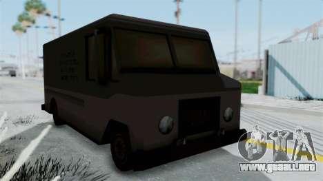 Boxville from Manhunt para la visión correcta GTA San Andreas