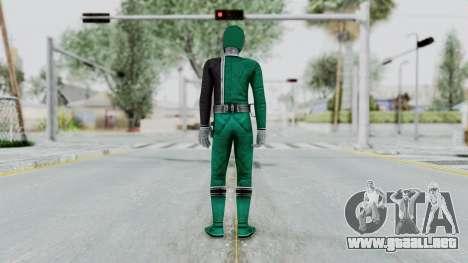 Power Rangers S.P.D - Green para GTA San Andreas tercera pantalla