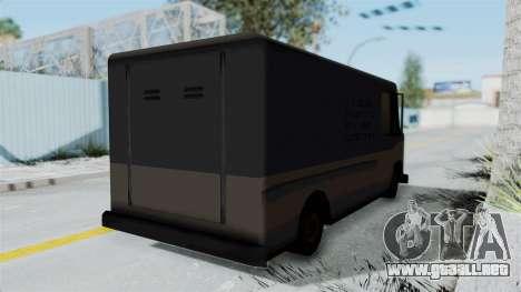 Boxville from Manhunt para GTA San Andreas vista posterior izquierda