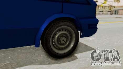 Zastava Rival Ice Cream Truck para GTA San Andreas vista posterior izquierda