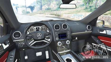 GTA 5 Mercedes-Benz ML63 (W164) Brabus 2009 vista lateral trasera derecha