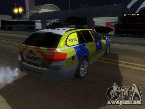 Jersey de Policía BMW 530d Touring para la visión correcta GTA San Andreas
