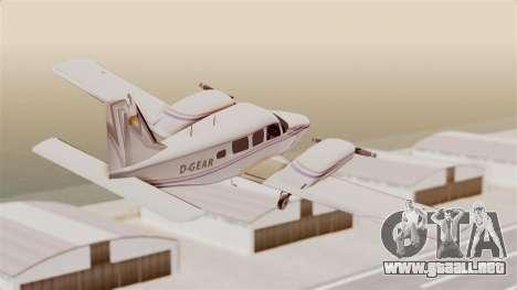 Piper Seneca II para la visión correcta GTA San Andreas