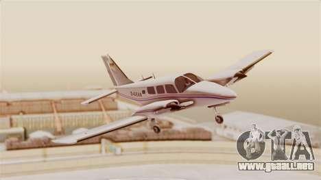 Piper Seneca II para GTA San Andreas vista posterior izquierda