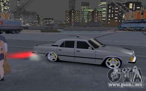 GAZ 3102 para GTA 4 vista hacia atrás