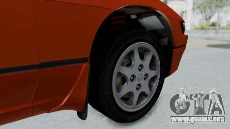 Nissan Sileighty - Stock para GTA San Andreas vista posterior izquierda