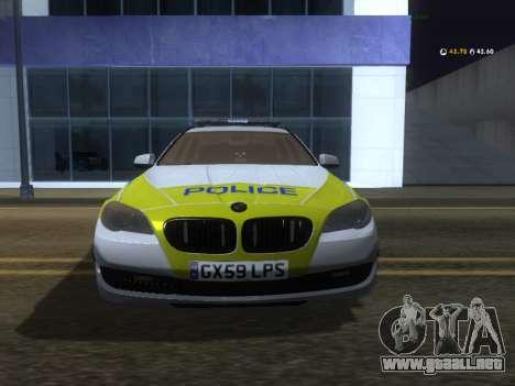 Jersey de Policía BMW 530d Touring para GTA San Andreas left