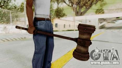 Skyrim Iron Warhammer para GTA San Andreas segunda pantalla