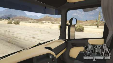 GTA 5 Scania R440 vista lateral trasera derecha