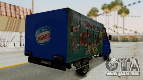 Zastava Rival Ice Cream Truck para GTA San Andreas left