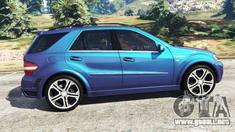 GTA 5 Mercedes-Benz ML63 (W164) Brabus 2009 vista lateral izquierda