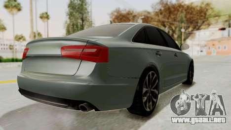 Audi A6 para GTA San Andreas vista posterior izquierda