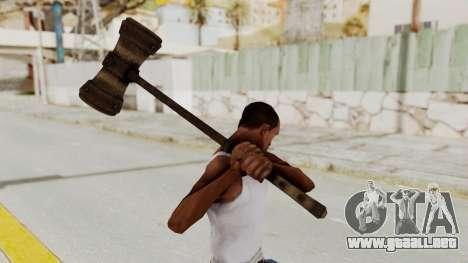 Skyrim Iron Warhammer para GTA San Andreas tercera pantalla