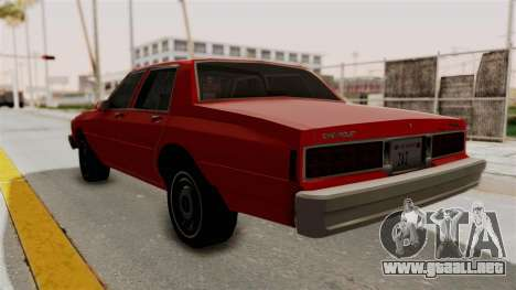 Chevrolet Caprice Classic 1986 v2.0 para GTA San Andreas left