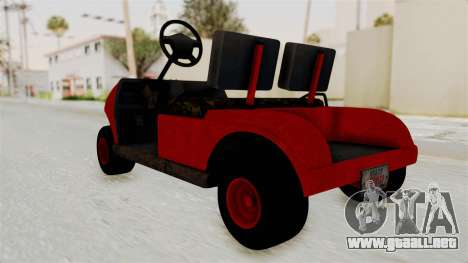 GTA 5 Gambler Caddy Golf Cart para la visión correcta GTA San Andreas