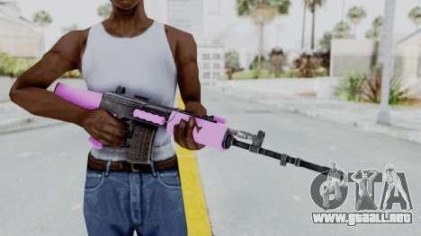 IOFB INSAS Light Pink para GTA San Andreas tercera pantalla