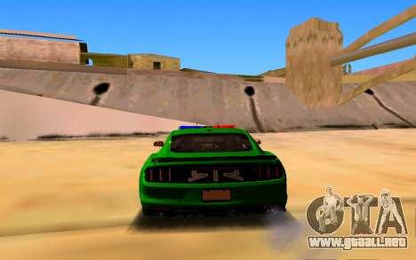 Ford Mustang Iranian Police para GTA San Andreas vista posterior izquierda