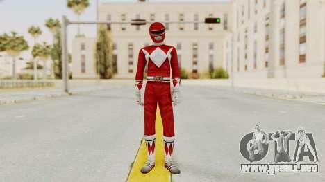 Mighty Morphin Power Rangers - Red para GTA San Andreas segunda pantalla
