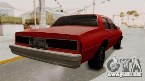 Chevrolet Caprice Classic 1986 v2.0 para la visión correcta GTA San Andreas