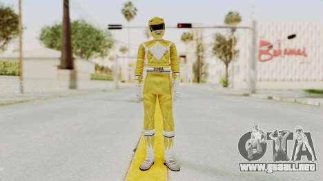 Mighty Morphin Power Rangers - Yellow para GTA San Andreas segunda pantalla