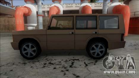 New Huntley para GTA San Andreas vista posterior izquierda