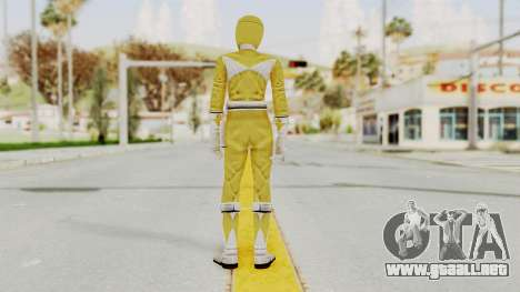 Mighty Morphin Power Rangers - Yellow para GTA San Andreas tercera pantalla